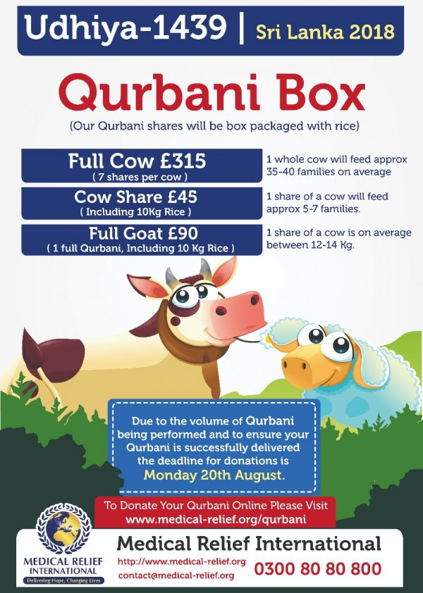 Qurbani 2018 Donate Your Qurbani Today